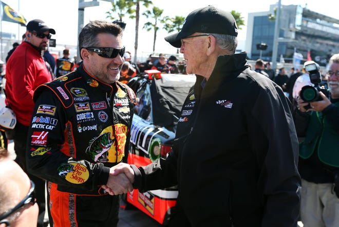 Tony Stewart and team owner Joe Gibbs, at Daytona International Speedway in 2015, had a huge impact on each other