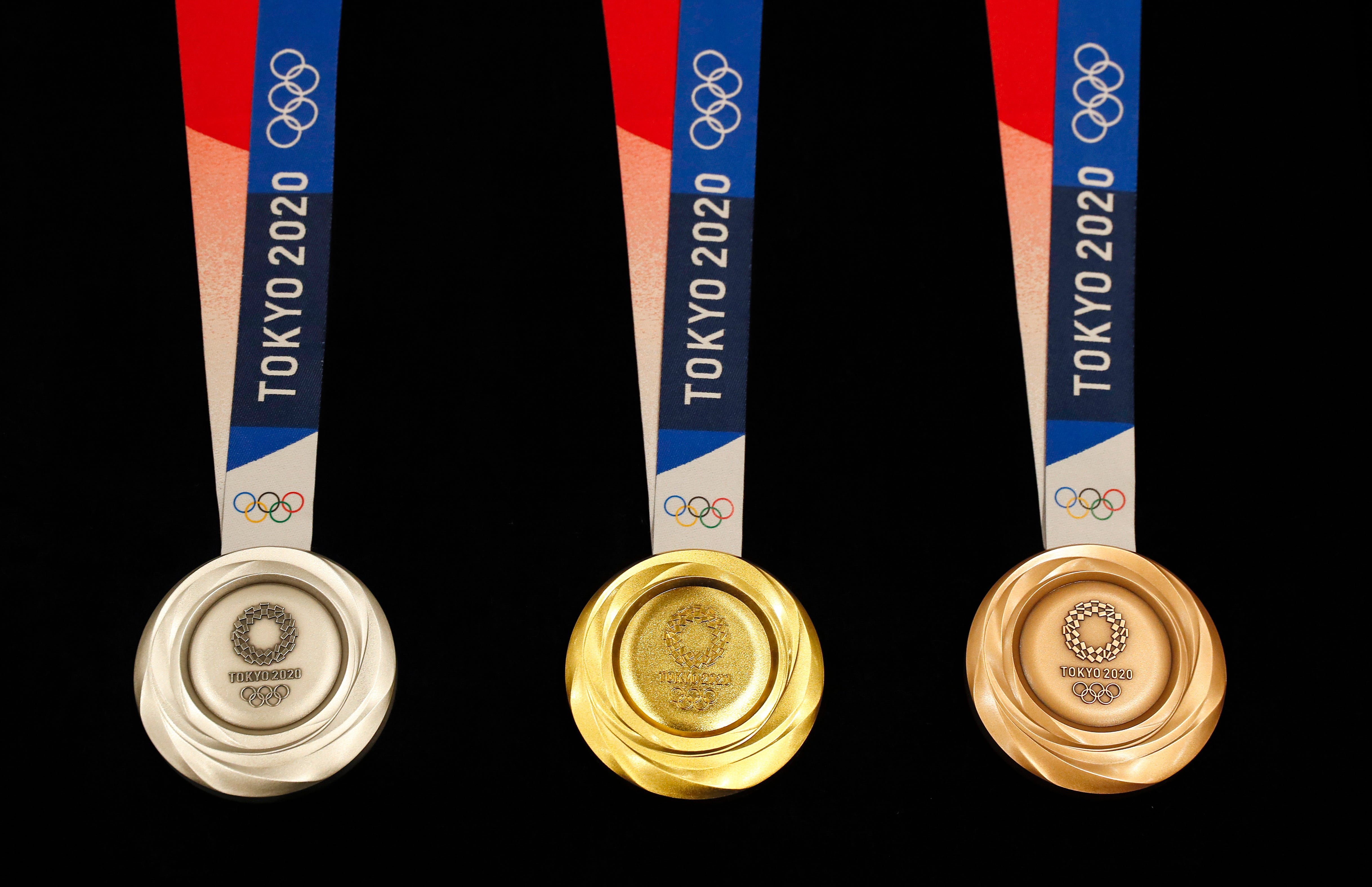 How the medals will look