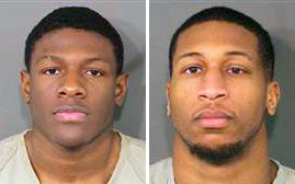 Photos provided by the Franklin County Ohio Sheriff show Jahsen Wint, left, and Amir I. Riep, right. Police say two Ohio State University football players have been charged with rape and kidnapping.