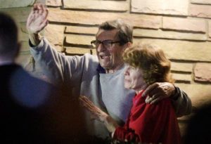 Joe Paterno and Sue Paterno in November 2011.