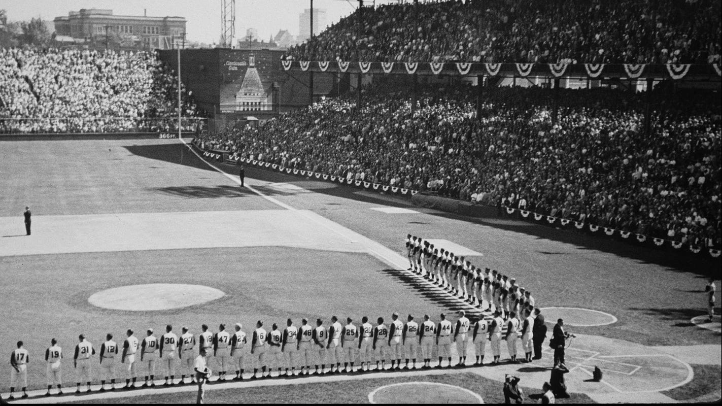 Why do I love sports? It was love at first sight at Crosley Field