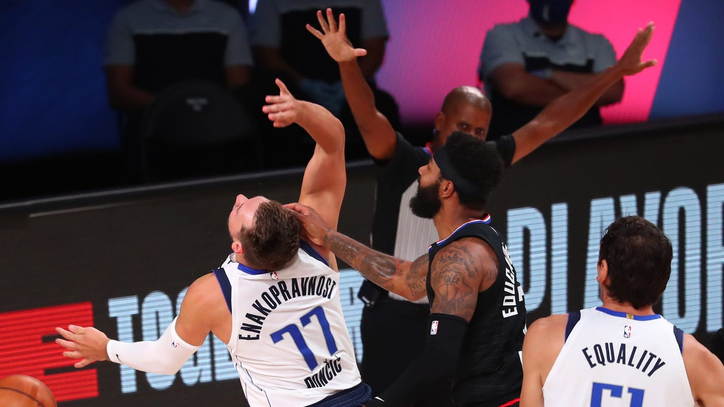 Clippers' Marcus Morris Sr. ejected for Flagrant Foul 2 on Dallas' Luka Doncic
