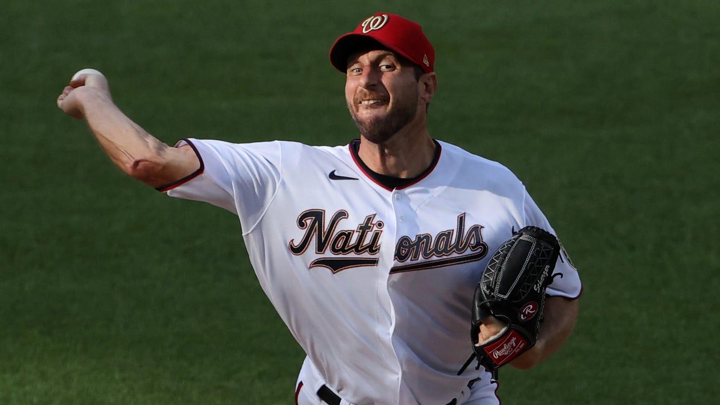 Max Scherzer exits early in Washington Nationals-New York Mets game