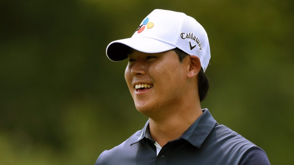 Si Woo Kim, powered by ace, shoots 62, leads by 2 at Wyndham