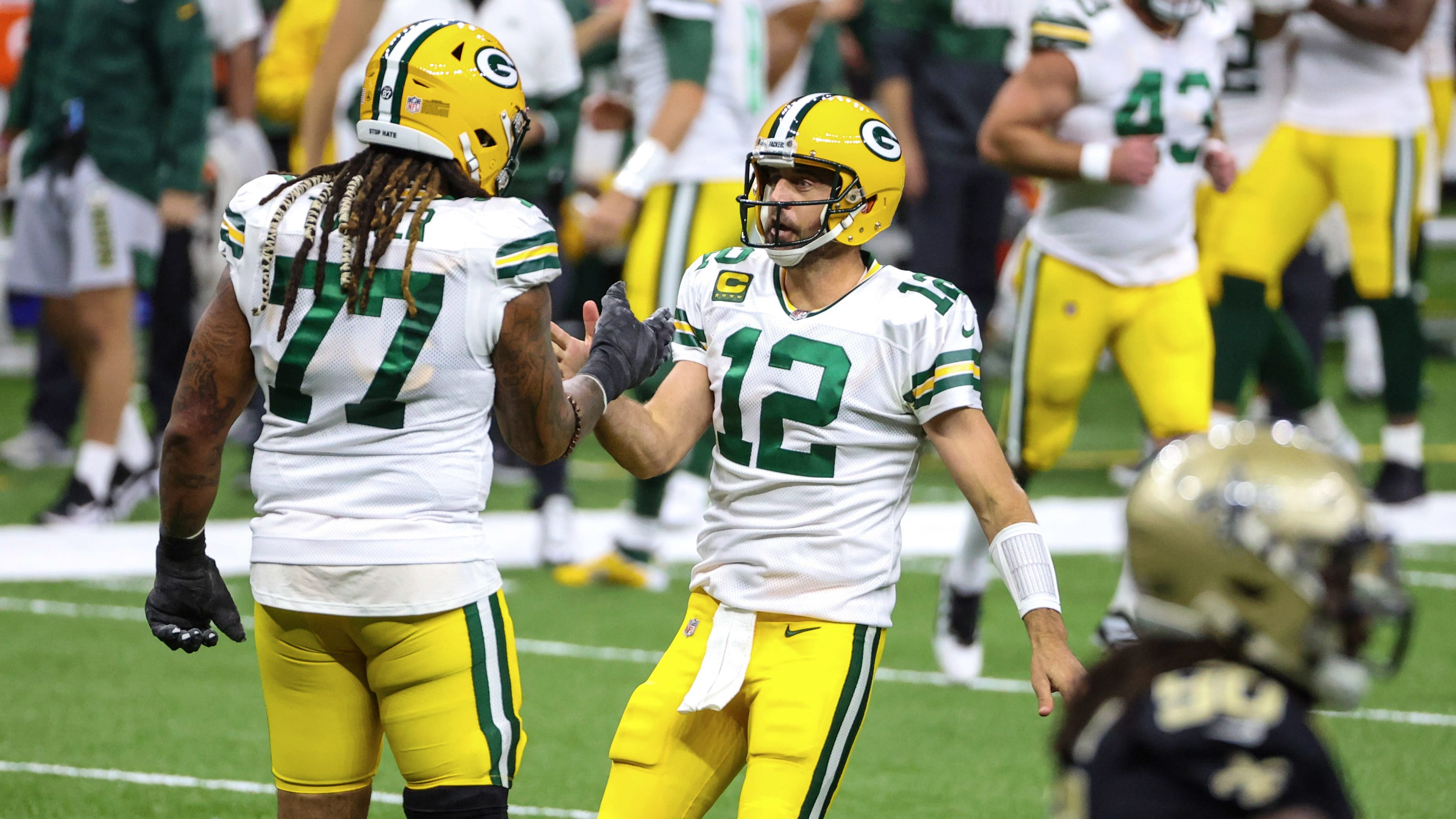 Aaron Rodgers leads win over Saints for 3-0 start