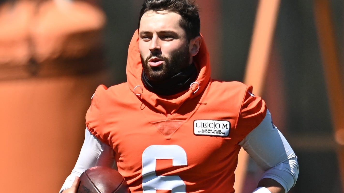 Browns' Baker Mayfield won't kneel for anthem, reversing decision