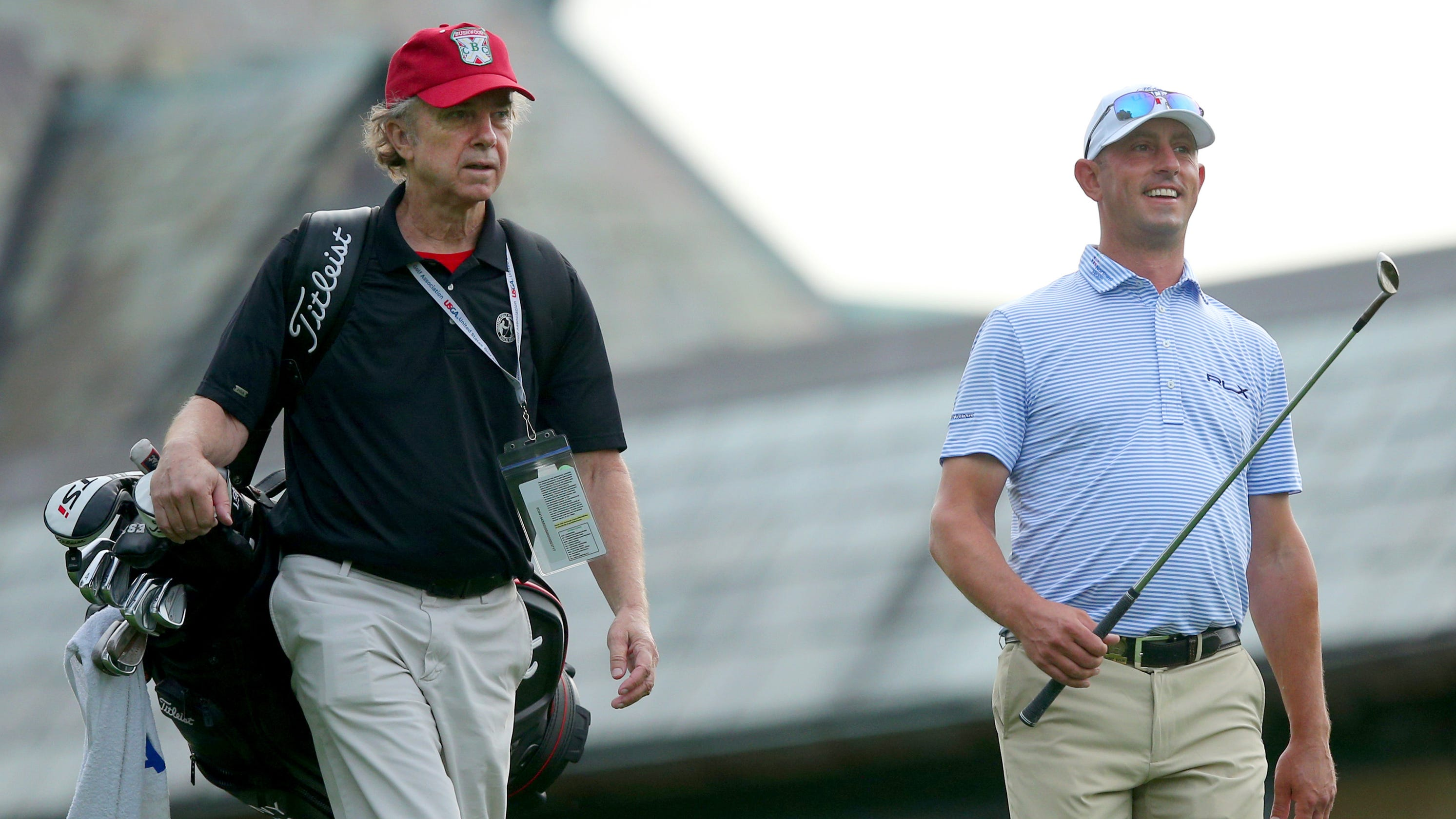 'Caddyshack' star Michael O'Keefe on bag for U.S. Open practice round