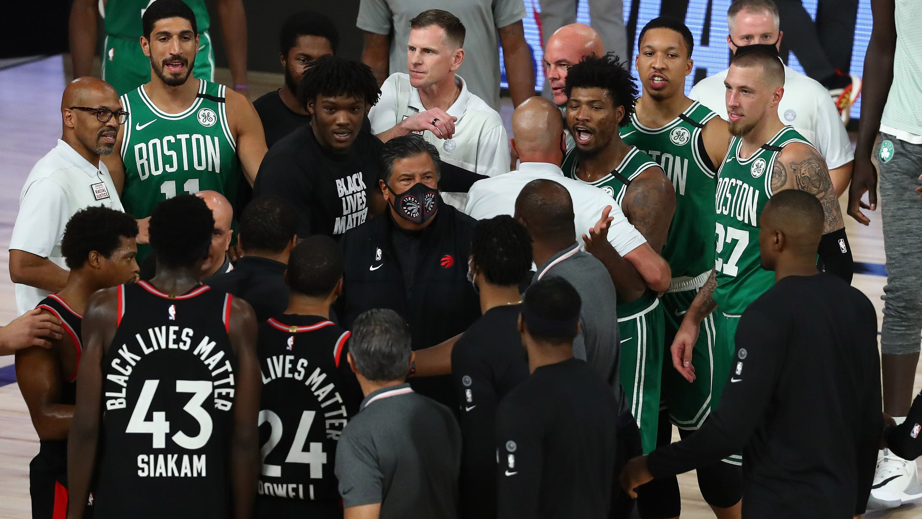 Celtics, Raptors hate each other, and sharing hotel, there's no escape