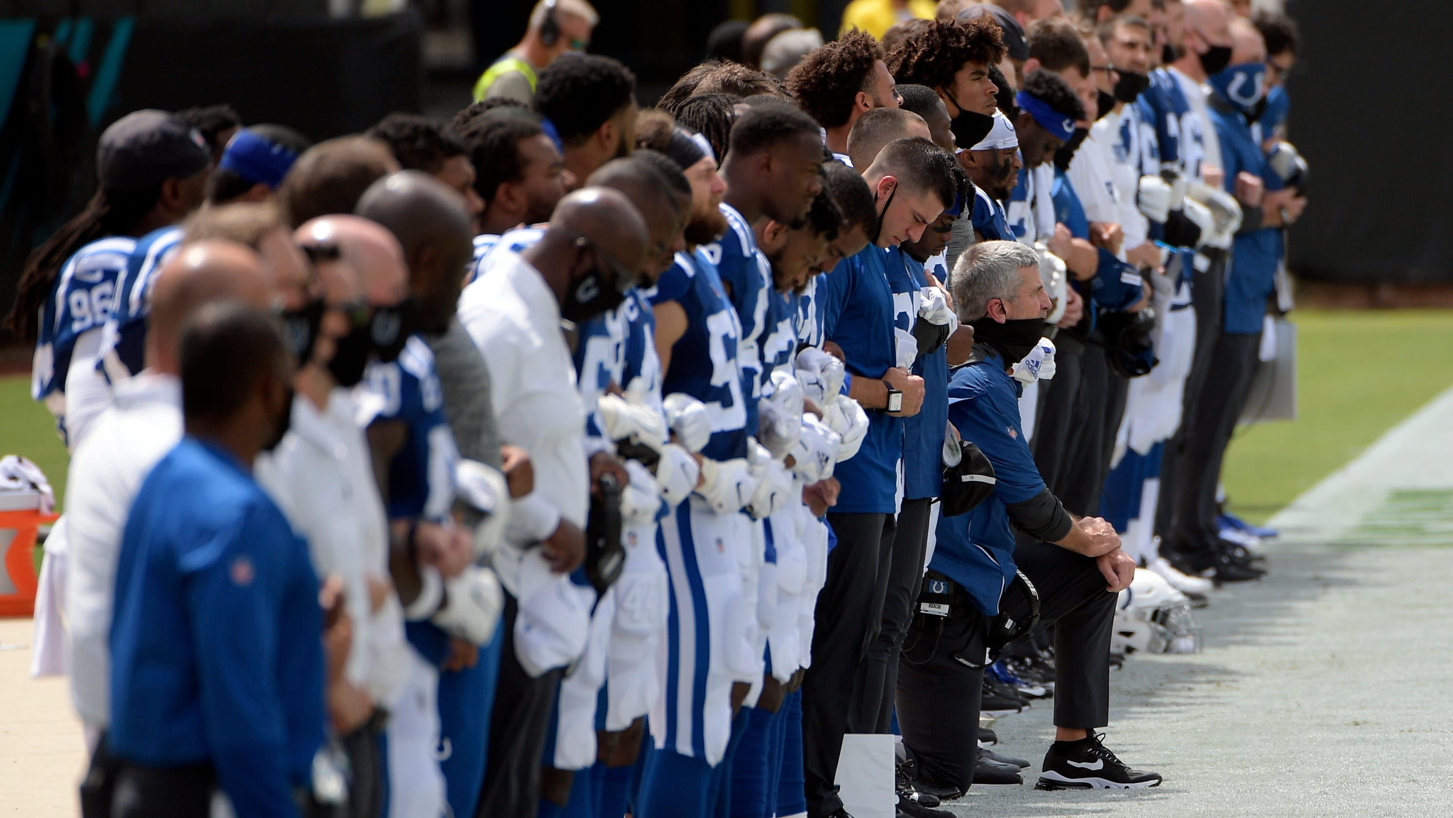 Colts coach Frank Reich explains why he kneeled during national anthem