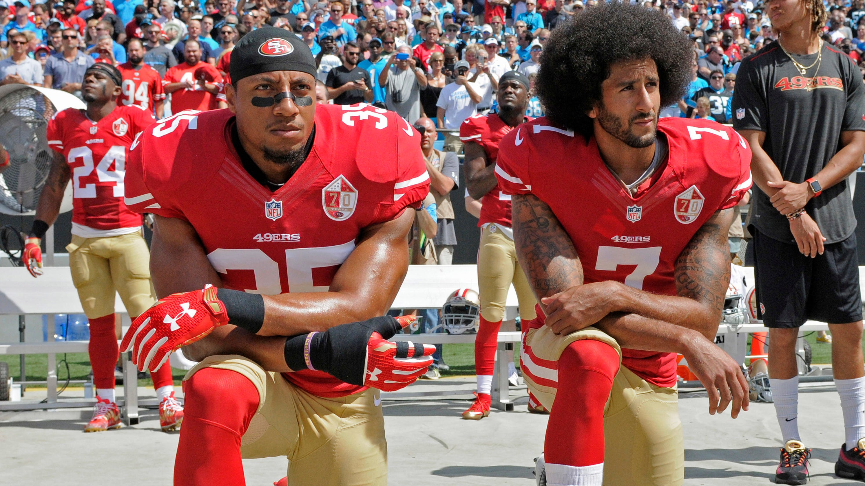 Eric Reid rips NFL for using Colin Kaepernick image: 'Diabolical'