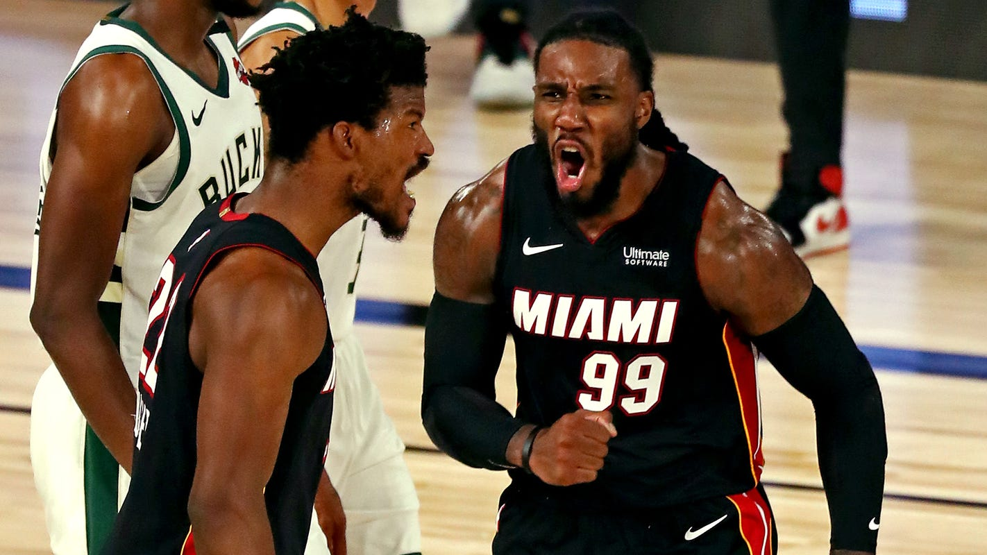 Heat shock top-seeded Bucks once again in Game 3 to take commanding 3-0 series lead