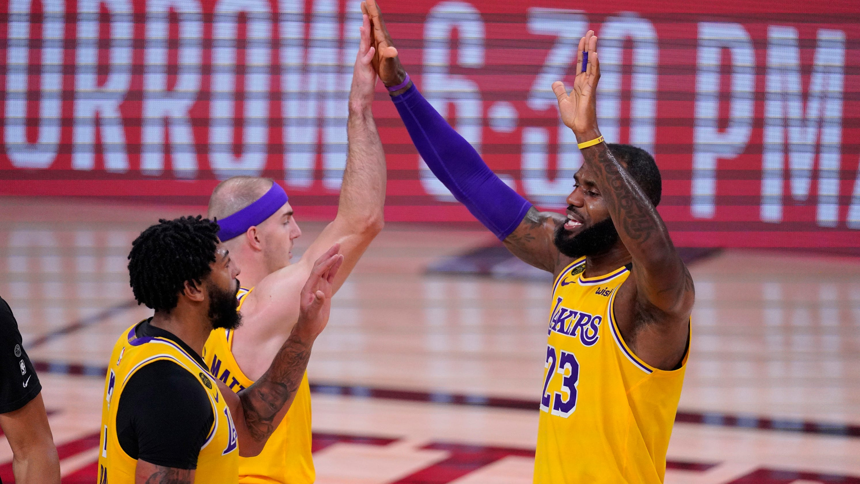 How the Lakers are using down time before Western Conference finals