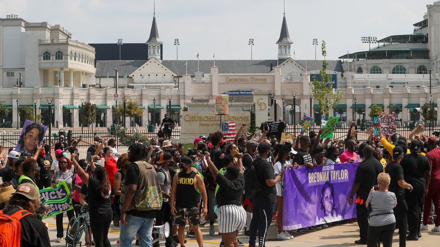 Kentucky Derby 2020, Churchill Downs acknowledges Louisville protests
