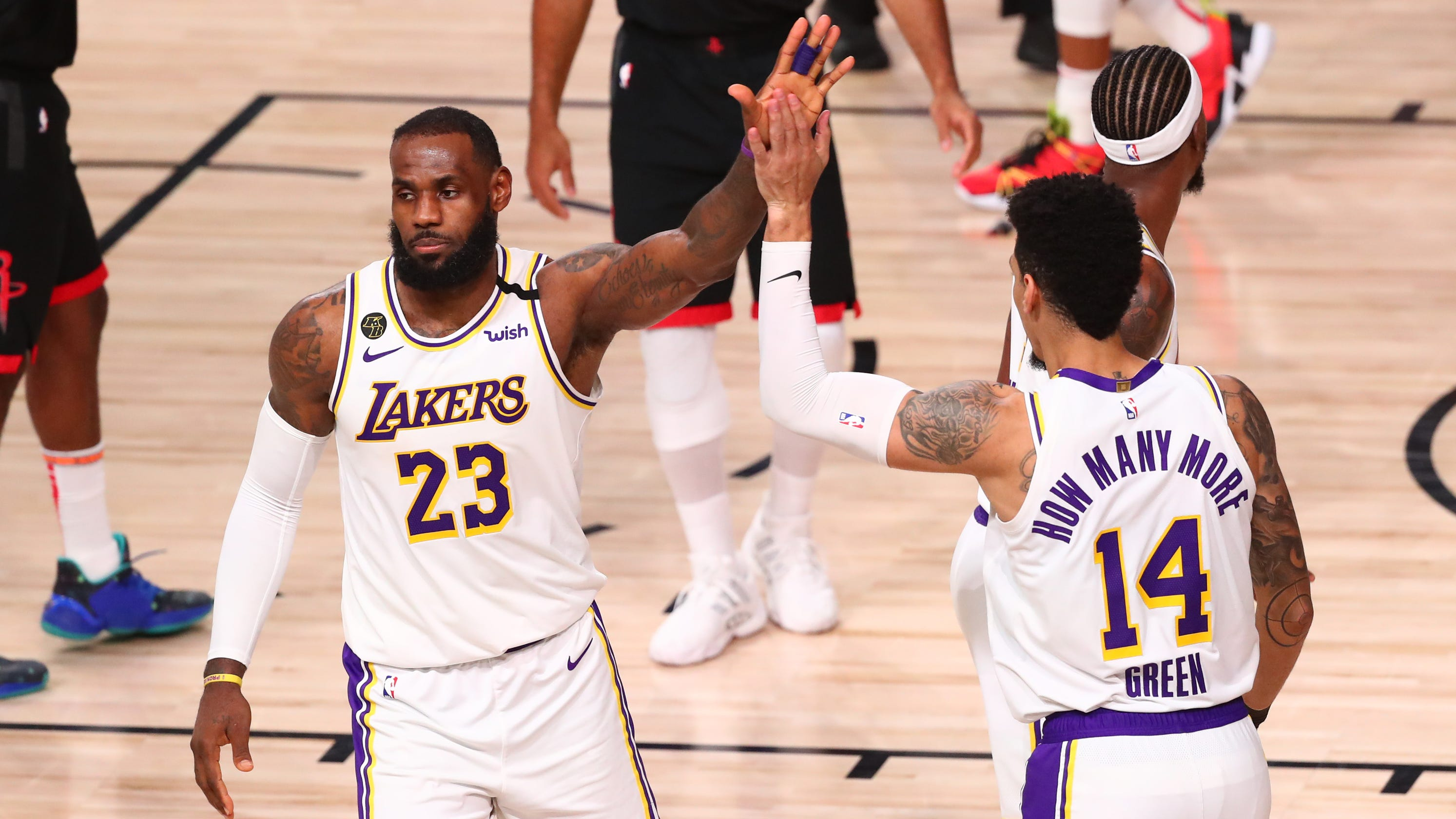 Lakers finish off Rockets to reach Western Conference finals