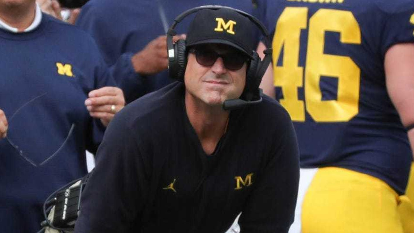 Michigan's Jim Harbaugh thrilled that Big Ten football is returning: 'Stay positive. Test negative. Let's play football'
