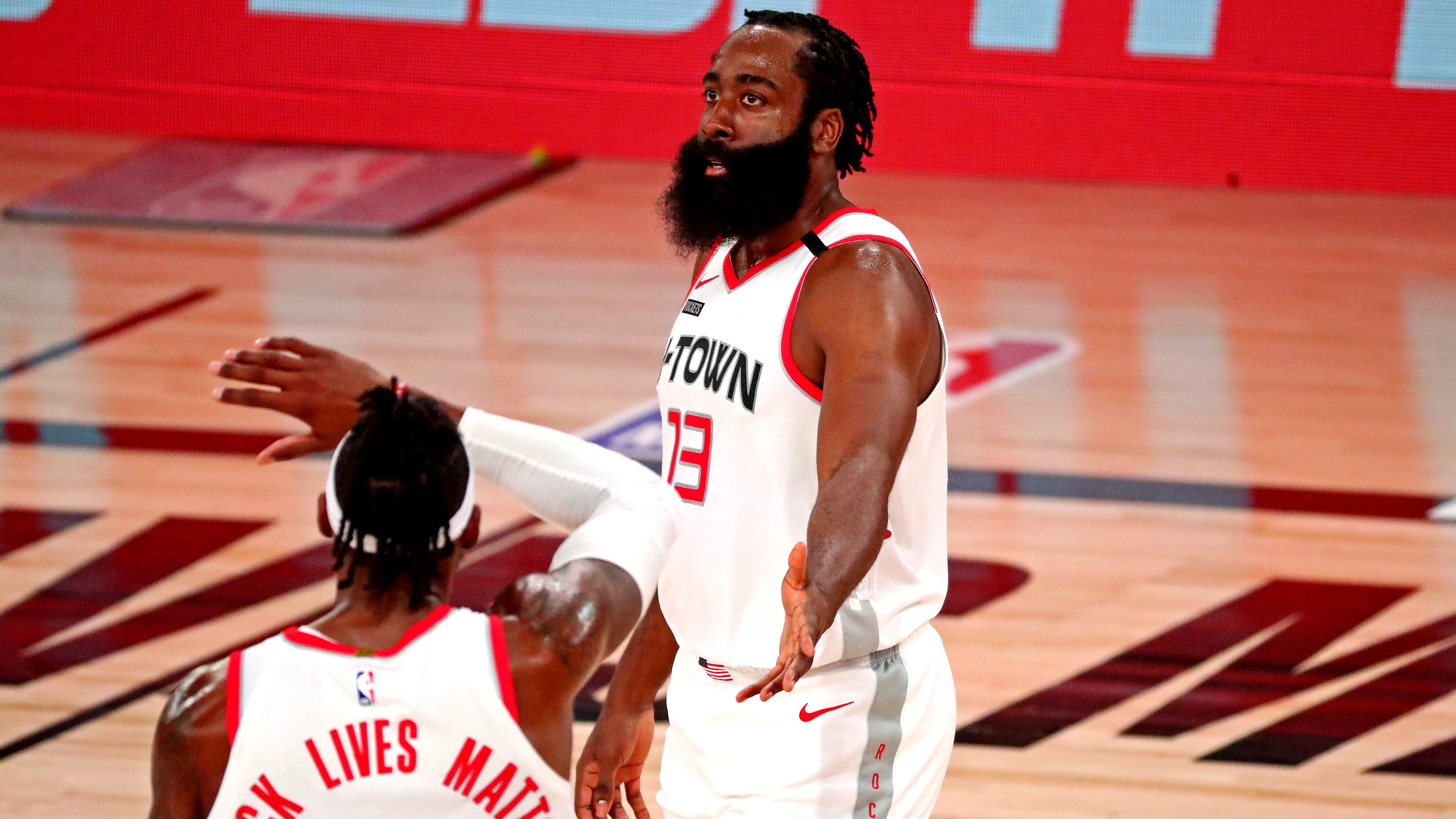 Rockets steal Game 1 from Lakers thanks to Harden and Westbrook