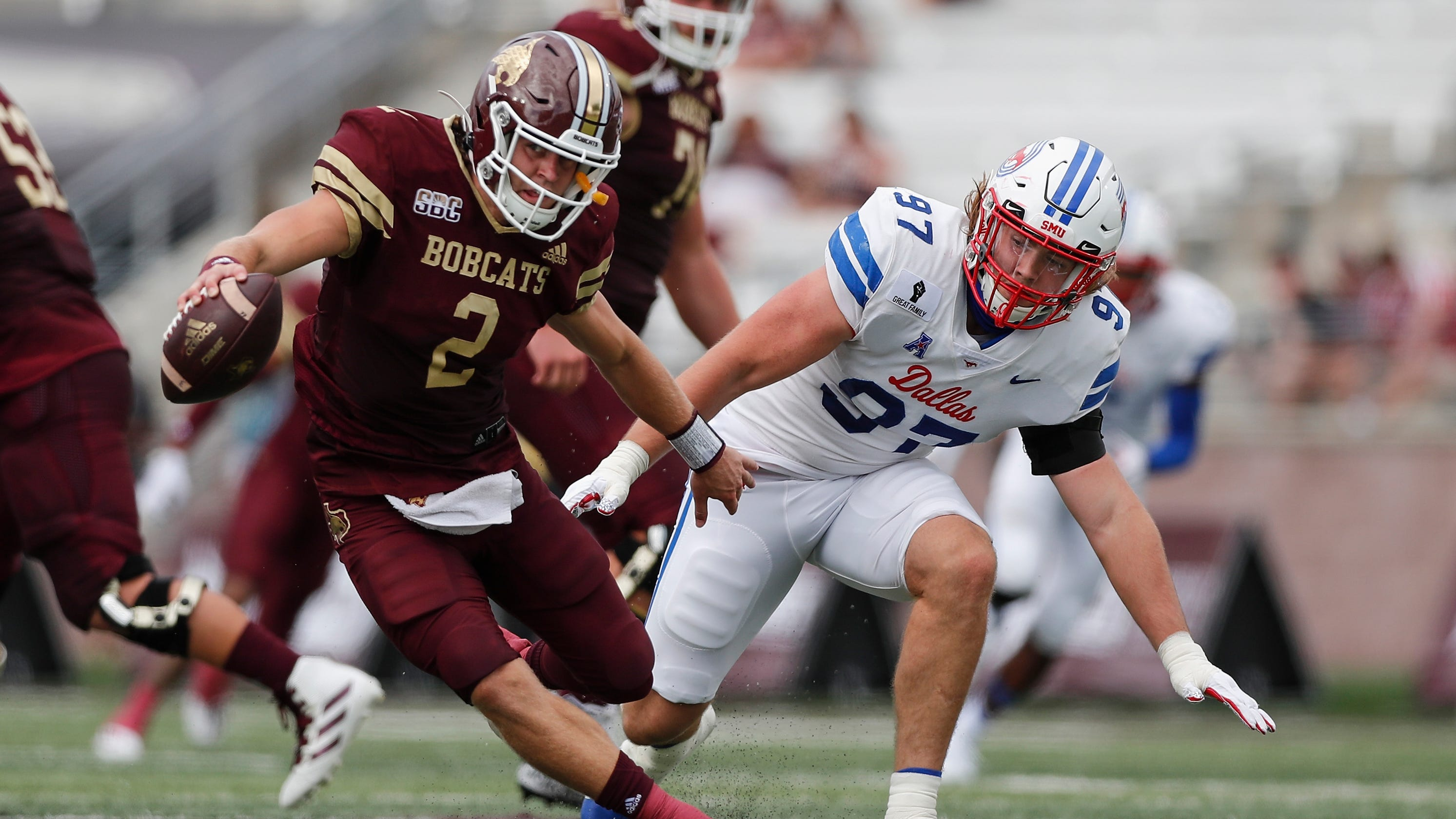 SMU tops undermanned Texas State, who played with no tight ends due to COVID-19 contact tracing