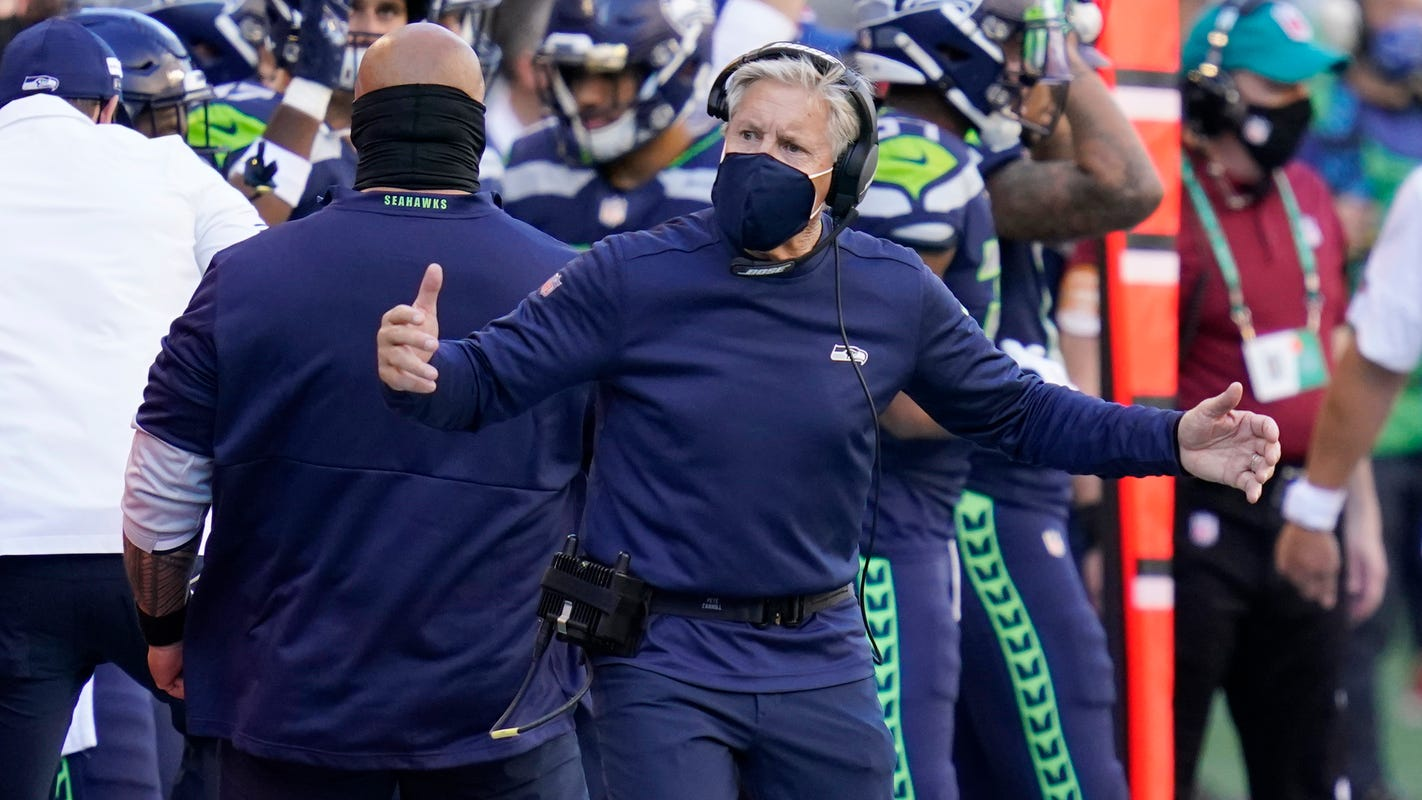 Seahawks coach Pete Carroll 'really pissed' after Cowboys DT Trysten Hill rolled with Chris Carson's leg