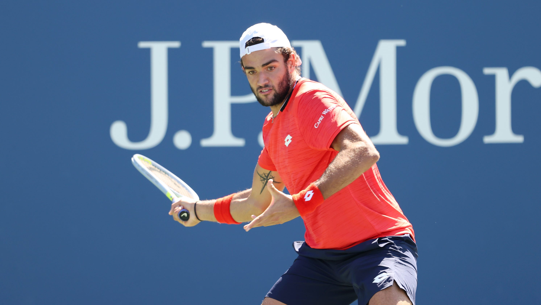 Tennis player Matteo Berrettini has personal cheering section