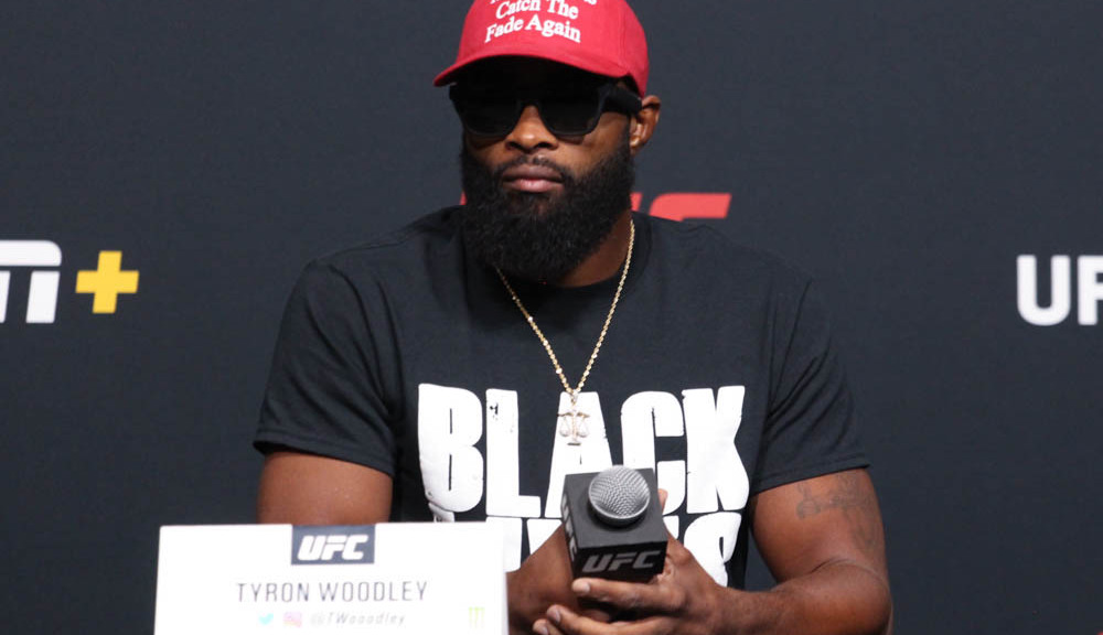 Tyron Woodley repeats 'Black lives matter' during presser