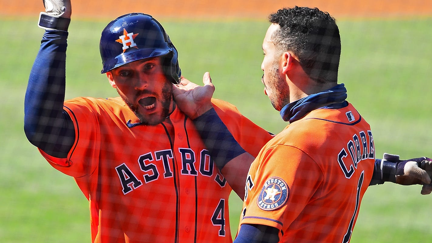 George Springer homers twice, Astros keep rolling with ALDS Game 2 win vs. Athletics