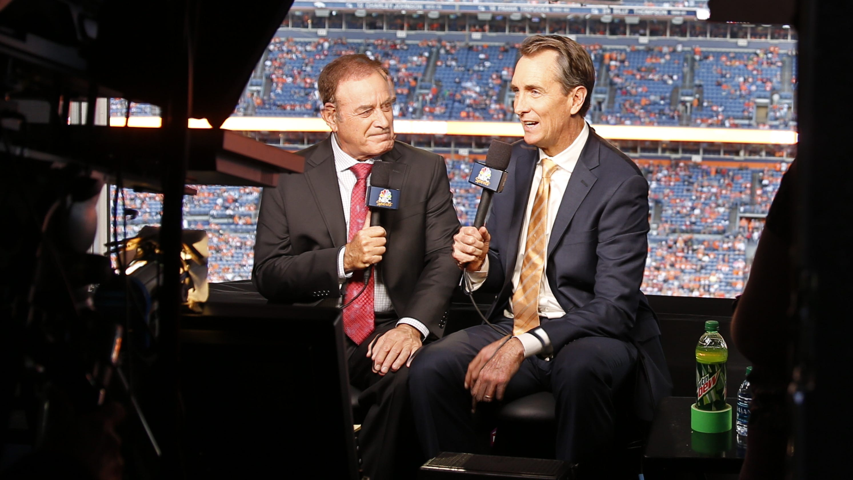 "NBC's Al Michaels, Cris Collinsworth crack jokes over 'SNF"" mask order"
