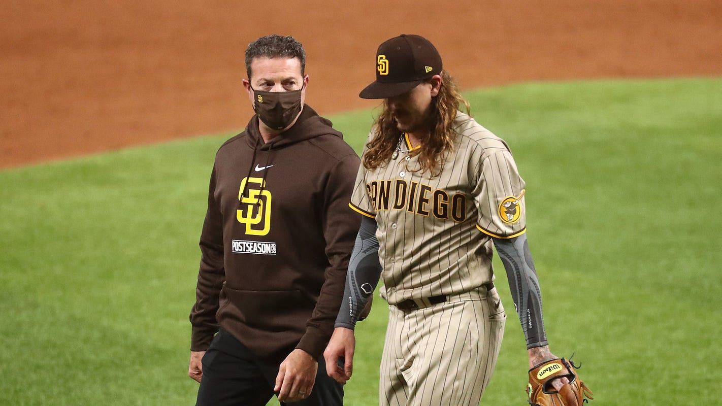 Padres ace Mike Clevinger removed from NLDS roster after injury, ineligible for NLCS